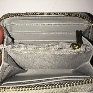 Target Bags - Light grey gold zipper accordion wallet
